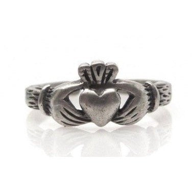 925 Sterling Silver Celtic Irish Claddagh Adjustable Pinky Toe Ring
