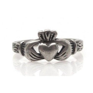 925 Sterling Silver Celtic Irish Claddagh Adjustable Pinky Toe Ring - SilverMania925