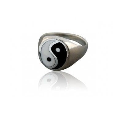 925 Sterling Silver Men's Ying Yin Yang Tai Chi Ring - SilverMania925