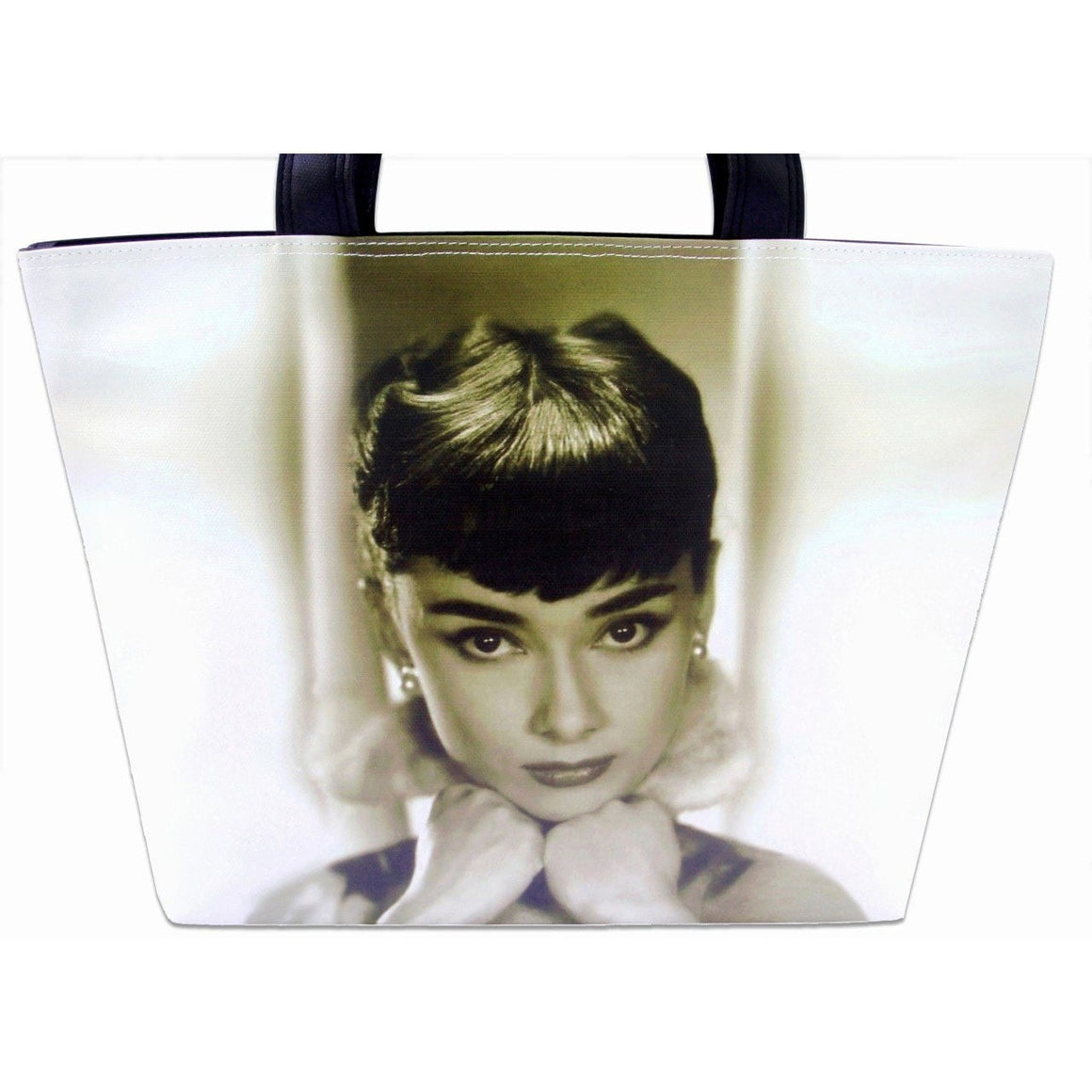 Audrey Hepburn Breakfast At Tiffany's Retro Wide Tote Shoulder Bag Purse - SilverMania925