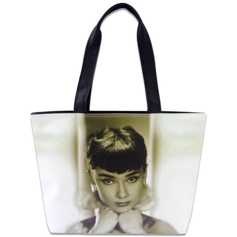 Audrey Hepburn Breakfast At Tiffany's Retro Wide Tote Shoulder Bag Purse