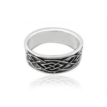 Sterling Silver 925 Celtic Weave Band Ring