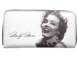 Marilyn Monroe Signature Money Case ID Holder White Wallet Purse Bag - SilverMania925