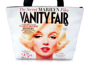 Marilyn Monroe Vanity Fair Magazine Cover Wide Tote Shoulder Bag Purse - SilverMania925