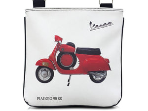 Red Retro Vespa Motorcycle Scooter Messenger Sling Cross Body Purse Shoulder Bag