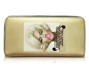 Marilyn Monroe Retro Bubble Gum Credit Card Money ID Holder Clutch Wallet Purse Bag - SilverMania925