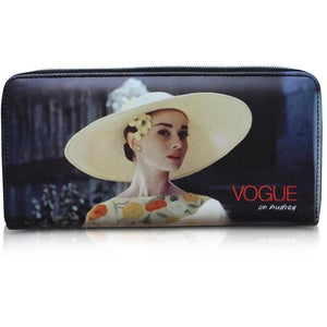 "Audrey Hepburn ""Vogue on Audrey"" Credit Card Money ID Holder Clutch Wallet Purse Bag - SilverMania925"