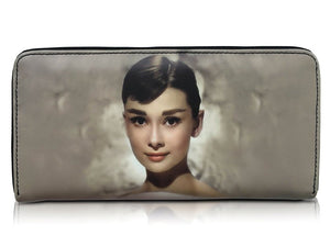 Audrey Hepburn Retro Cinema Icon Rare Money ID Holder Clutch Wallet Purse Bag