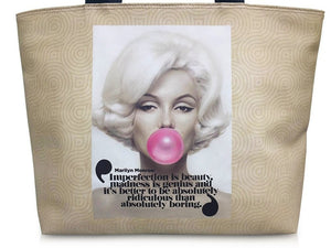 Marilyn Monroe Retro Rare Bubble Gum Retro Tote Shoulder Bag Purse Handbag - SilverMania925