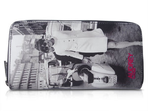 Audrey Hepburn In Rome Retro Rare Picture Money ID Holder Clutch Travel Wallet Purse Bag - SilverMania925