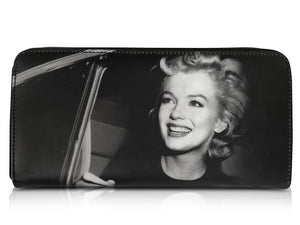 Marilyn Monroe In Car Retro Rare Picture Money ID Holder Clutch Black Wallet Purse Bag - SilverMania925