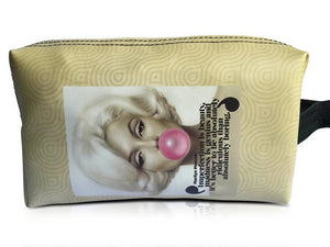 Marilyn Monroe Retro Rare Make Up Lipstick Cosmetic Zip Around Lovely Bag