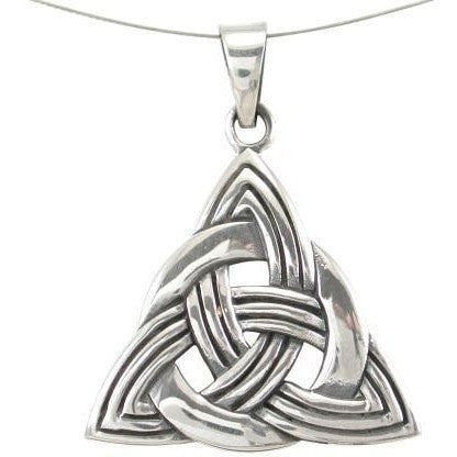925 Sterling Silver Celtic Infinity Knots Trinity Triquetra Knot Charm Pendant 6gr - SilverMania925