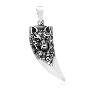 925 Sterling Silver Viking Wolf Tooth Protection Amulet