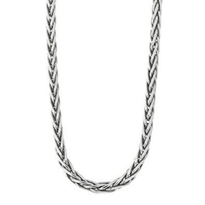 925 Sterling Silver Wheat Oxidized Jewelry Chain
