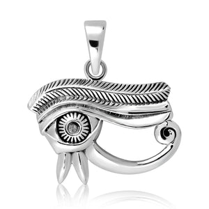 925 Sterling Silver Egyptian Eye of Horus Udjat Protection Pendant