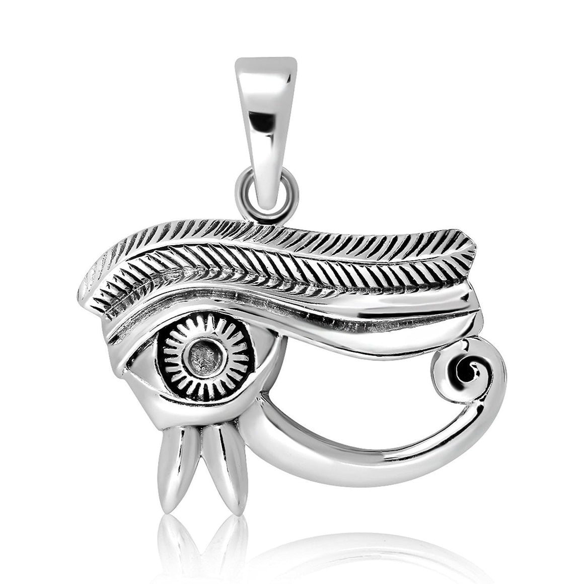 925 Sterling Silver Egyptian Eye of Horus Udjat Protection Pendant - SilverMania925