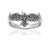 925 Sterling Silver Viking Raven Ring with Celtic Knotwork