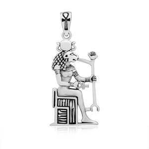 925 Sterling Silver Lion Sekhmet Goddess of Healing Pendant