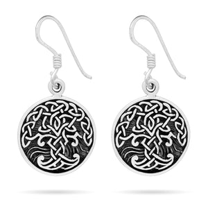 925 Sterling Silver Viking Tree of Life Yggdrasil Earrings