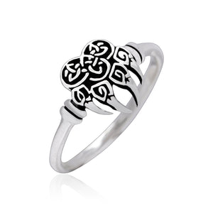 925 Sterling Silver Viking Bear Claw Ring