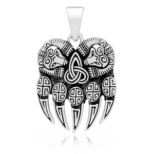 925 Sterling Silver Viking Bear Paw Claw Pendant