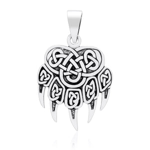 925 Sterling Silver Viking Bear Claw Pendant - SilverMania925
