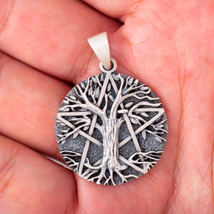 925 Sterling Silver Tree of Life Neo-Pagan Pendant