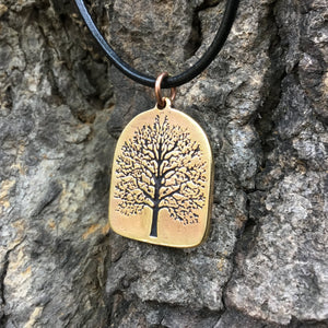 Viking Yggdrasil Antique Finish Pendant from Bronze