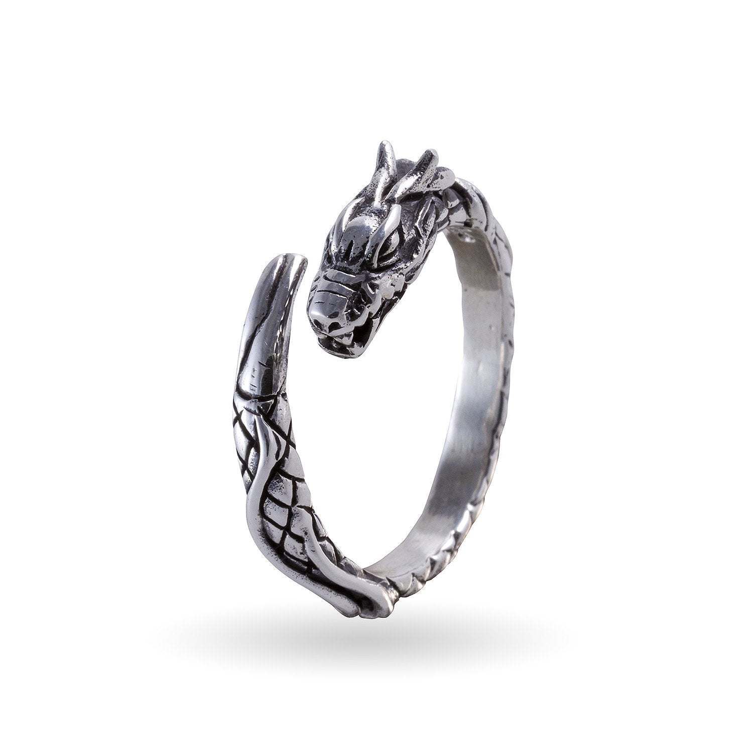 925 Sterling Silver Viking Jormungand Ring