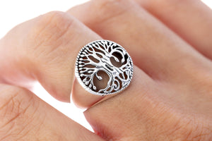 925 Sterling Silver Viking Tree of Life Yggdrasil Ring