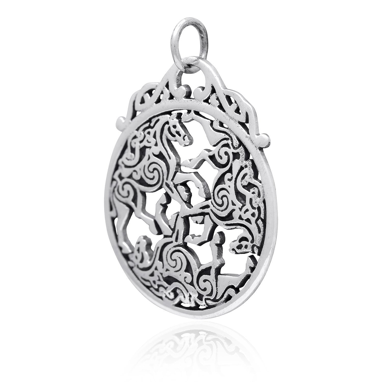 925 sterling silver three horse celtic irish knot epona charm 925 sterling silver three horse celtic irish knot knotwork epona pendant silvermania925 aloadofball Gallery