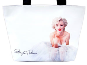 Marilyn Monroe Ballerina Hollywood Tote Shoulder White Bag Purse - SilverMania925