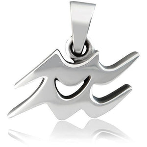925 Sterling Silver Astrology Zodiac Star Sign Horoscope AQUARIUS Charm Pendant - SilverMania925