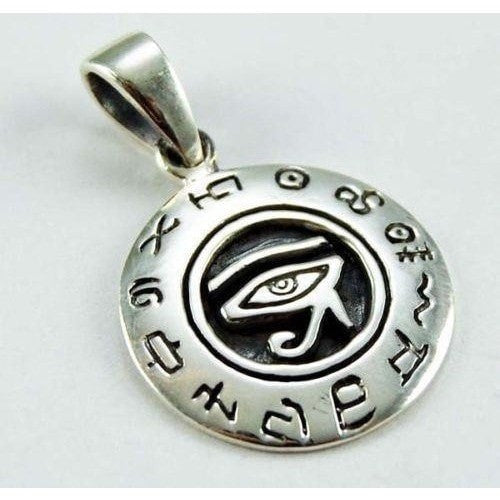 925 Sterling Silver Egyptian Eye of Horus Ra Udjat Isis Sky God Charm Pendant - SilverMania925
