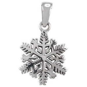 925 Sterling Silver Winter Frozen Snowflake Snow Christmas Gift Charm Pendant - SilverMania925