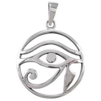 925 Sterling Silver Egyptian Eye of Horus Ra God Wedjat Wadjet Udjat Pendant - SilverMania925