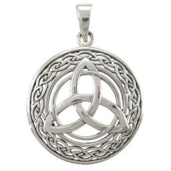 925 Sterling Silver Celtic Irish Infinity Knots Trinity Triquetra Charm Pendant