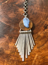 Blue Kyanite on Copper Necklace