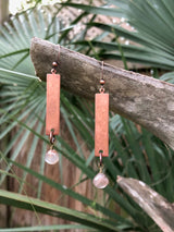 Moonstone + Copper Drops