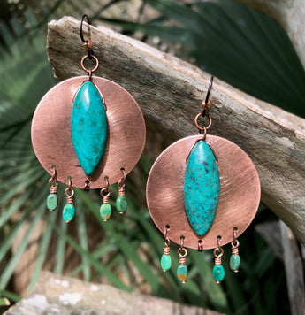 Handcrafted Turquoise Dangles