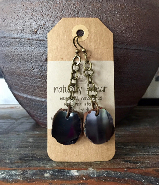 Black Agate Drops
