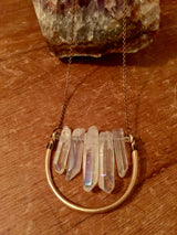 Quartz Crystal Points Necklace