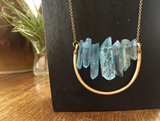 Blue Crystal Points Necklace