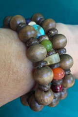 meaningful Chakra triple layered bracelet