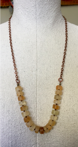 happy citrine wheel necklace