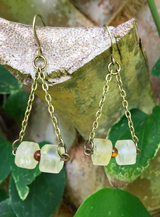 solar plexus chakra drop earrings