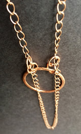 copper + leather necklace