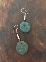 Granite + Copper Earrings