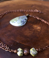 Green Earth Jasper + antique copper